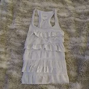 Gilly Hicks sz small oatmeal white tank
